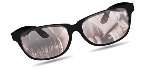 stranka z očali