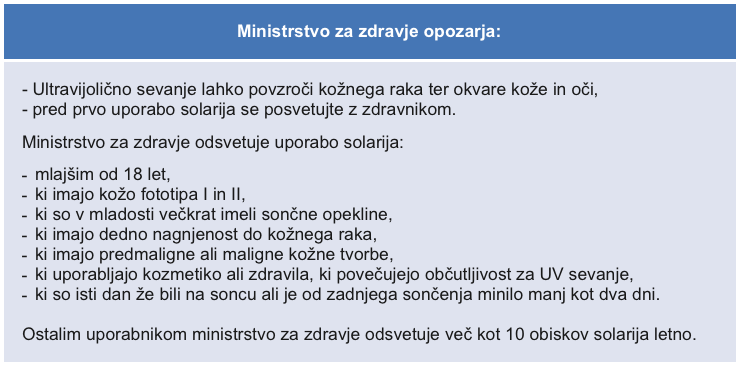 ministrstvo za zdravje opozarja
