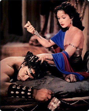 Samson in Dalila, igralca Victor Mature in Hedy Lamarr
