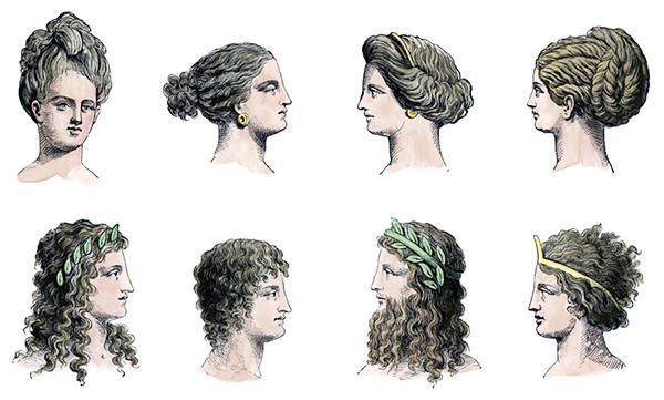 Antična Grčija pričeske