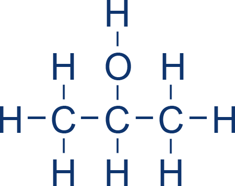 izopropanol strukturna formula