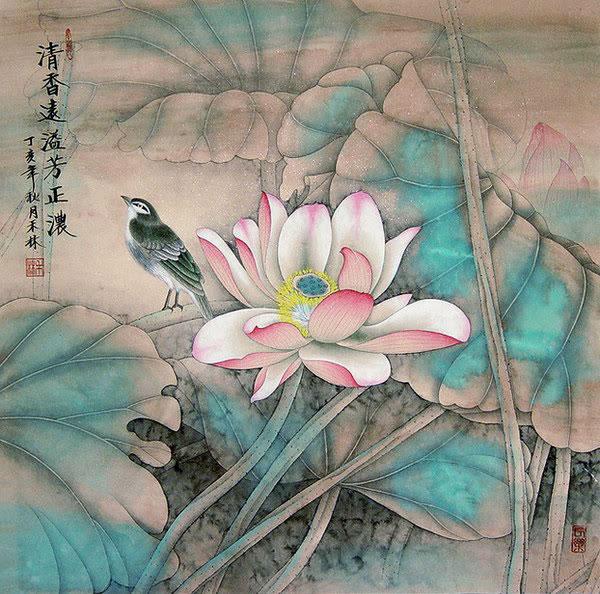 Lou Dahua, Slavček in lotos