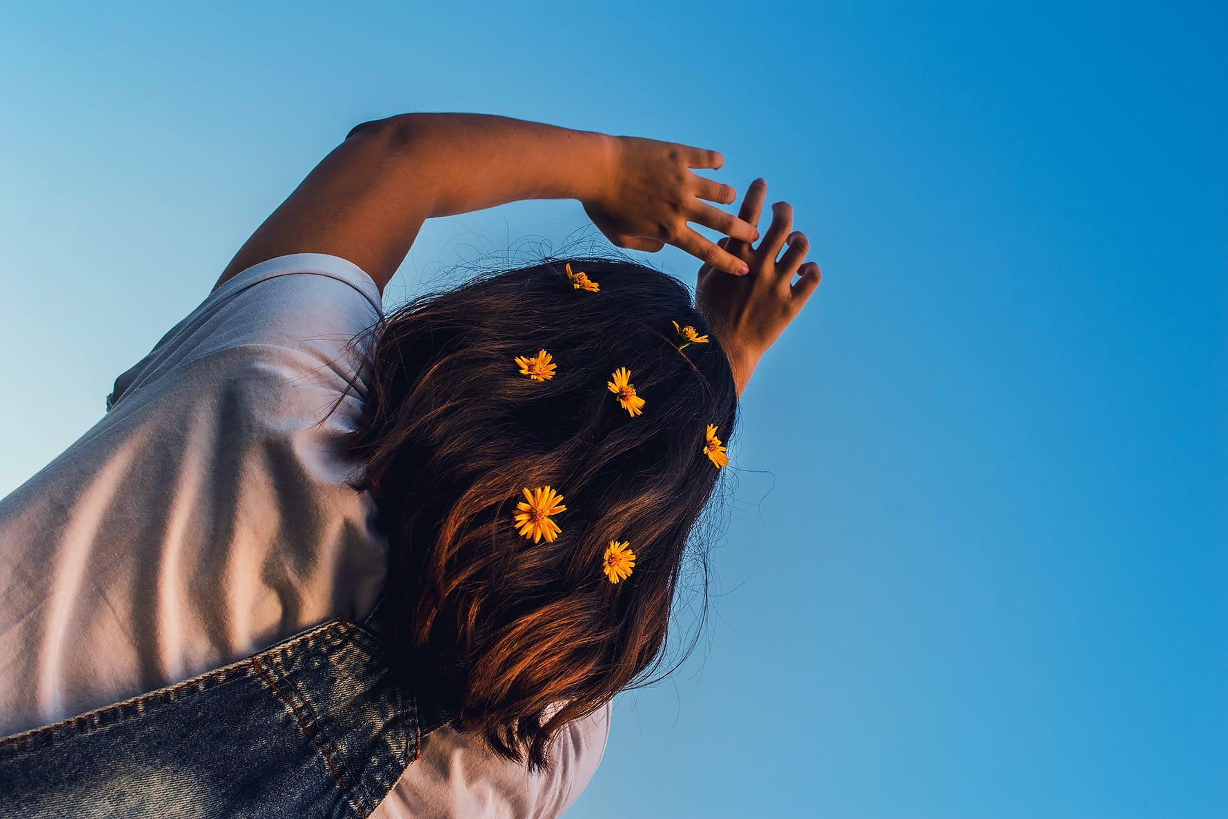 cvetje v laseh