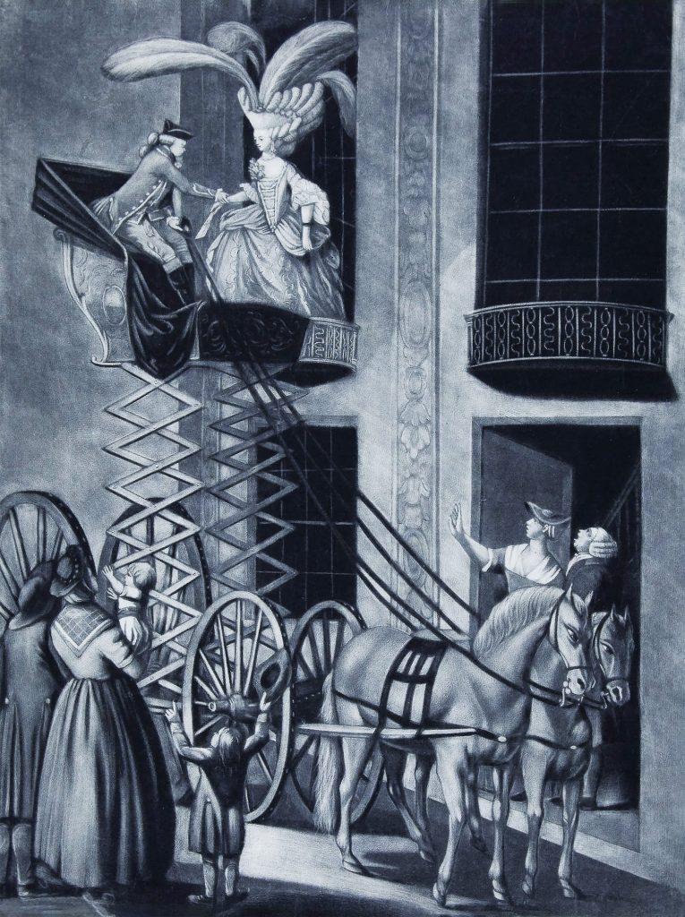 parodija na ogromne baročne lasulje